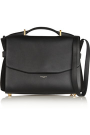 Nina Ricci Lutece medium leather and suede shoulder bag