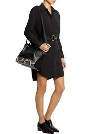 Nina Ricci Marche medium leather, suede and python shoulder bag
