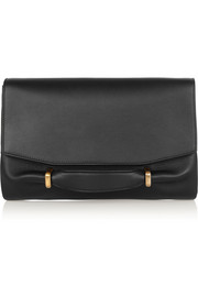 Marche leather and suede clutch