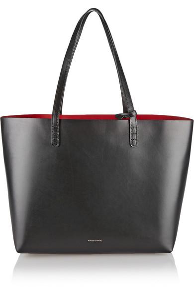Large Leather Tote - Black Mansur Gavriel 09QjlNeYl