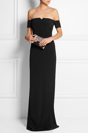 Grace MMXIII Off-the-shoulder crepe gown