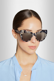 Stella McCartney Tortoiseshell cat eye acetate sunglasses