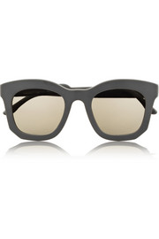 Stella McCartney D-frame acetate mirrored sunglasses