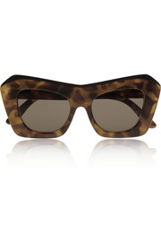 Le Specs The Villain cat eye tortoiseshell acetate sunglasses