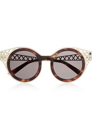 House of Holland Frame Ache round-frame metal-trimmed sunglasses