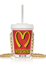 Moschino Milkshake embroidered leather shoulder bag