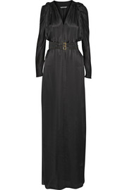 Maiyet Belted silk-satin gown