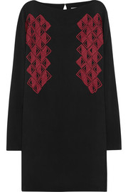Maiyet Embroidered washed silk-crepe dress