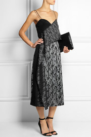 Maiyet Draped silk-jacquard dress