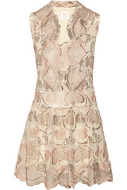 Deco embroidered tulle dress