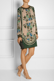 Anna Sui Printed silk crepe de chine dress