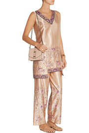 Anna Sui Embroidered satin top