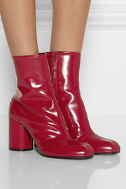 Maison Martin Margiela Polished-leather ankle boots