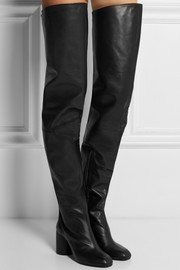 Maison Martin Margiela Leather over-the-knee boots