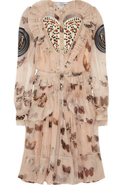 Givenchy Butterfly-print silk-chiffon dress