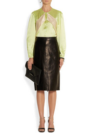 Givenchy Silk-satin blouse with contrast bands