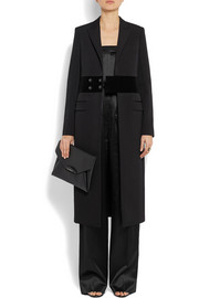 Givenchy Wool coat with velvet band detail