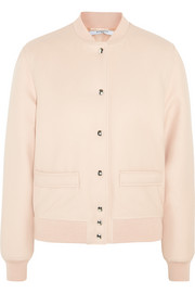 Givenchy Bomber jacket in blush wool-blend gabardine