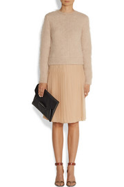 Givenchy Beige angora-blend sweater with elasticated back band