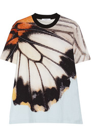 Butterfly-print cotton-jersey T-shirt