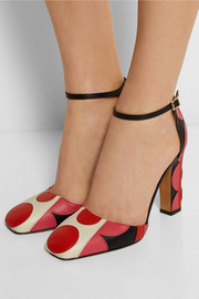 Valentino Carmen appliquéd leather pumps