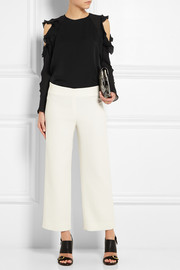Chloé Cutout silk-georgette top
