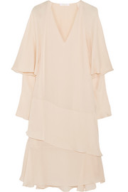 Chloé Ruffled silk-georgette dress