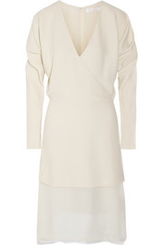 Chloé Layered wrap-effect crepe dress