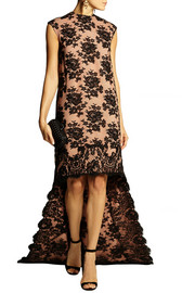 Emilia Wickstead Asymmetric lace and crepe gown