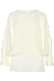 Chloé Silk-georgette blouse