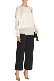Chloé Cropped crepe wide-leg pants