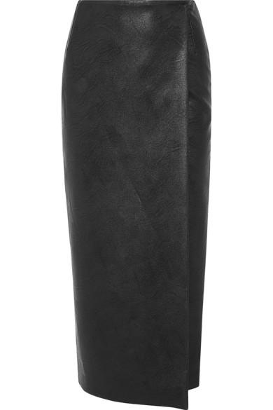 Emilia Wickstead | Faux leather wrap skirt | NET-A-PORTER.COM