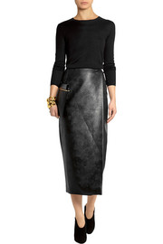 Emilia Wickstead Faux leather wrap skirt