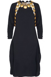 Chloé Embellished crepe dress