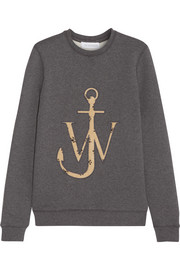 J.W.Anderson Anchor-appliquéd cotton-jersey sweatshirt
