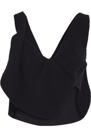 J.W.Anderson Asymmetric cropped textured-wool top