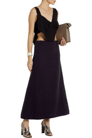 J.W.Anderson Textured-wool maxi skirt