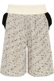 Chloé Open-knit cotton-blend shorts