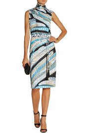Emilio Pucci Printed jersey sheath dress