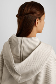 Chloé Iconic ribbed cashmere hood
