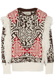 Emilio Pucci Fringed jacquard-knit sweater