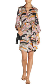 Emilio Pucci Printed silk-satin shirt dress