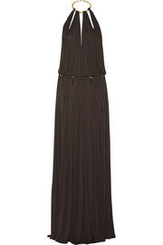 Emilio Pucci Backless satin-jersey gown