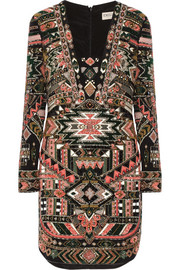 Emilio Pucci Embellished silk mini dress