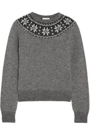 Saint Laurent Fair Isle mohair-blend sweater