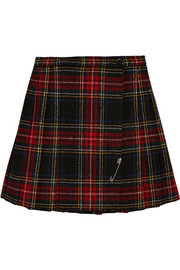 Saint Laurent Tartan wool mini skirt