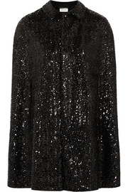 Saint Laurent Sequined silk cape