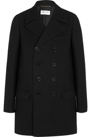 Saint Laurent Double-breasted wool-crepe coat