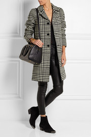 Saint Laurent Prince of Wales check wool-blend coat