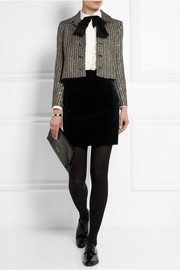 Saint Laurent Sequin-embellished metallic tweed jacket